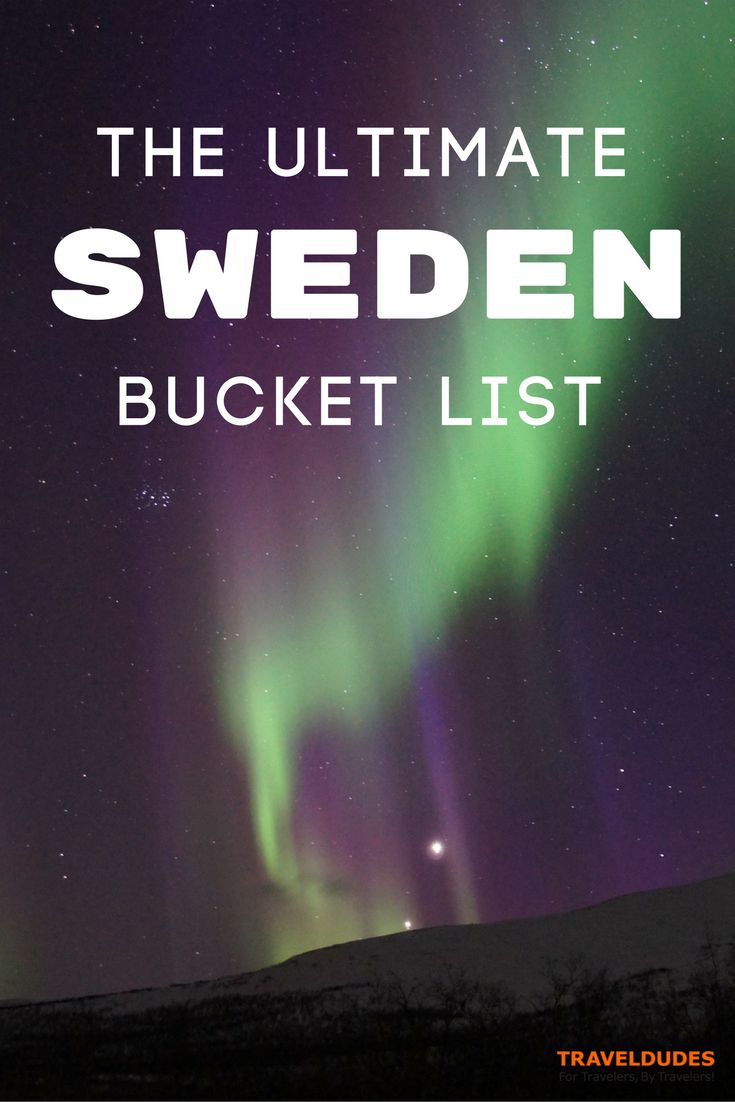 The ultimate Sweden bucket list. Tips for your next trip to Scandinavia. | Blog by Travel Dudes: Community for Travelers, by Travelers!
