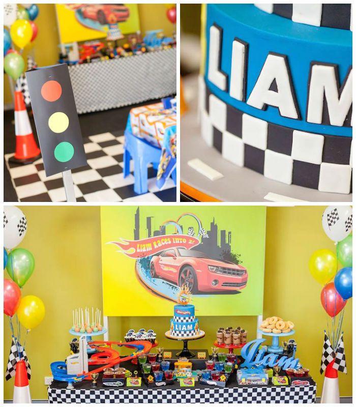 Hot Wheels + Car Birthday Party via Kara's Party Ideas | KarasPartyIdeas.com (1)