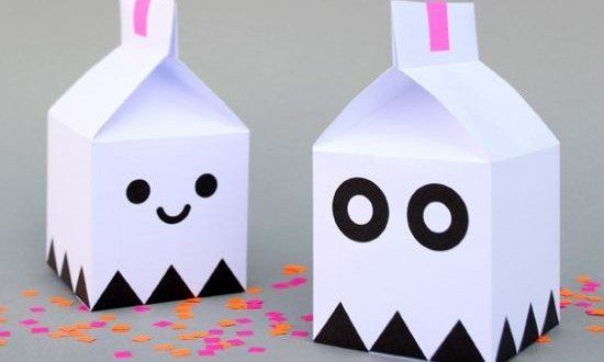 Halloween Milk Carton Ghosts