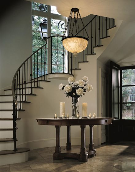 Foyer With Spiral Staircase : Best home foyer stairs halls images on pinterest