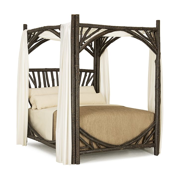 Rustic Canopy Bed #4280 (Queen) in Ebony finish by La Lune Collection