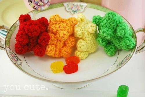 Gummy Bears! Free Crochet Pattern Crochet Pinterest ...