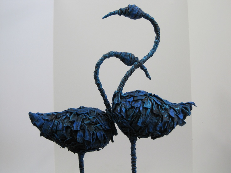 Blue Flamingos By Lizzie Ciesluk