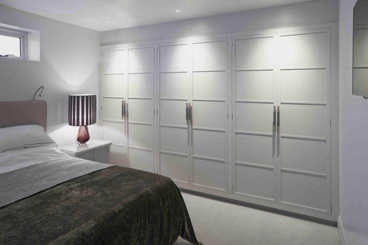 pale grey paneled closet doors