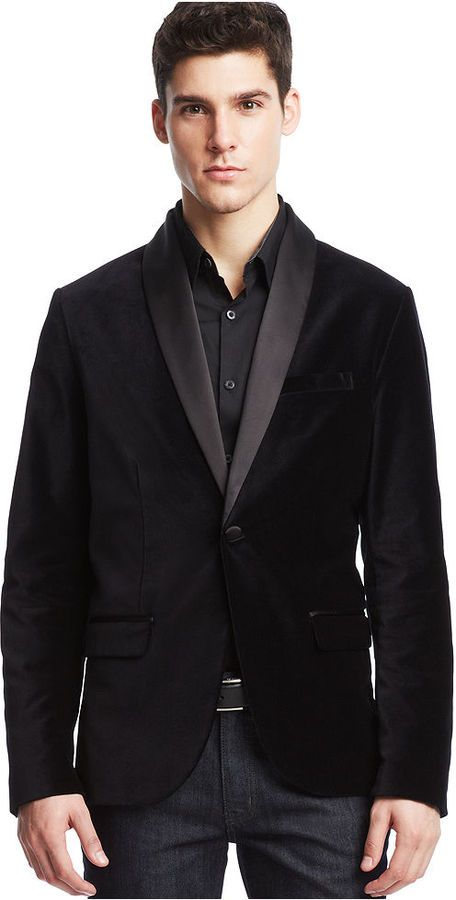 Kenneth Cole Reaction Contrast Velvet Shawl Blazer on shopstyle.co.uk