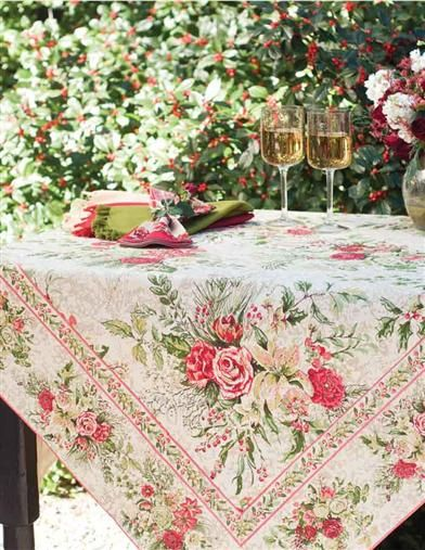APRIL CORNELL MERRYMAKING TABLECLOTH