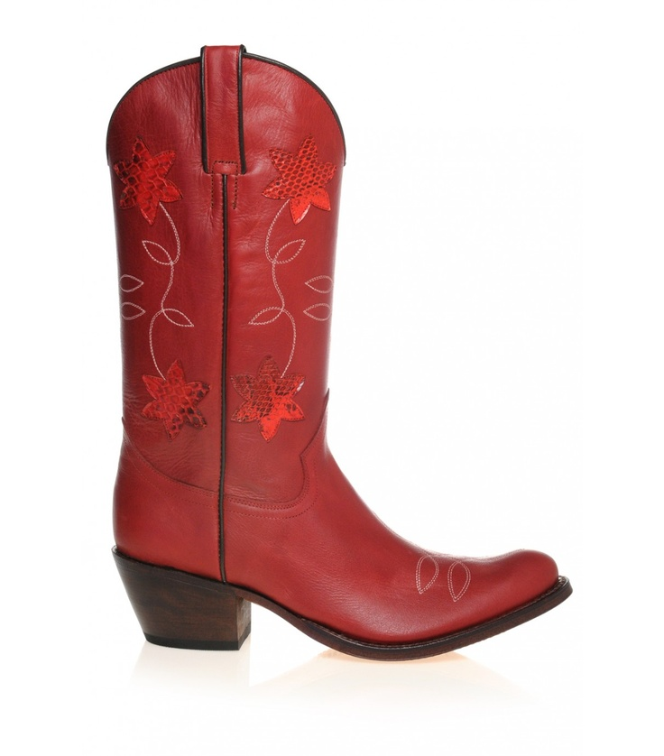 Echte herfstlaarzen ;-) Tony Mora rode western - Cowboylaarzen dames