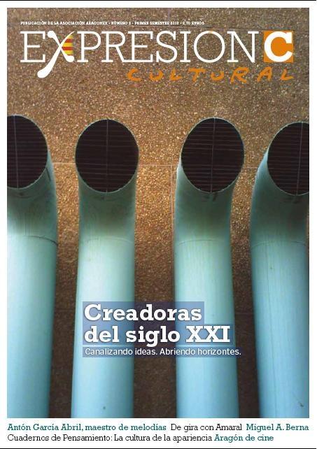 Portada del número 2 de la revista Expresión Cultural, recién salida a la calle