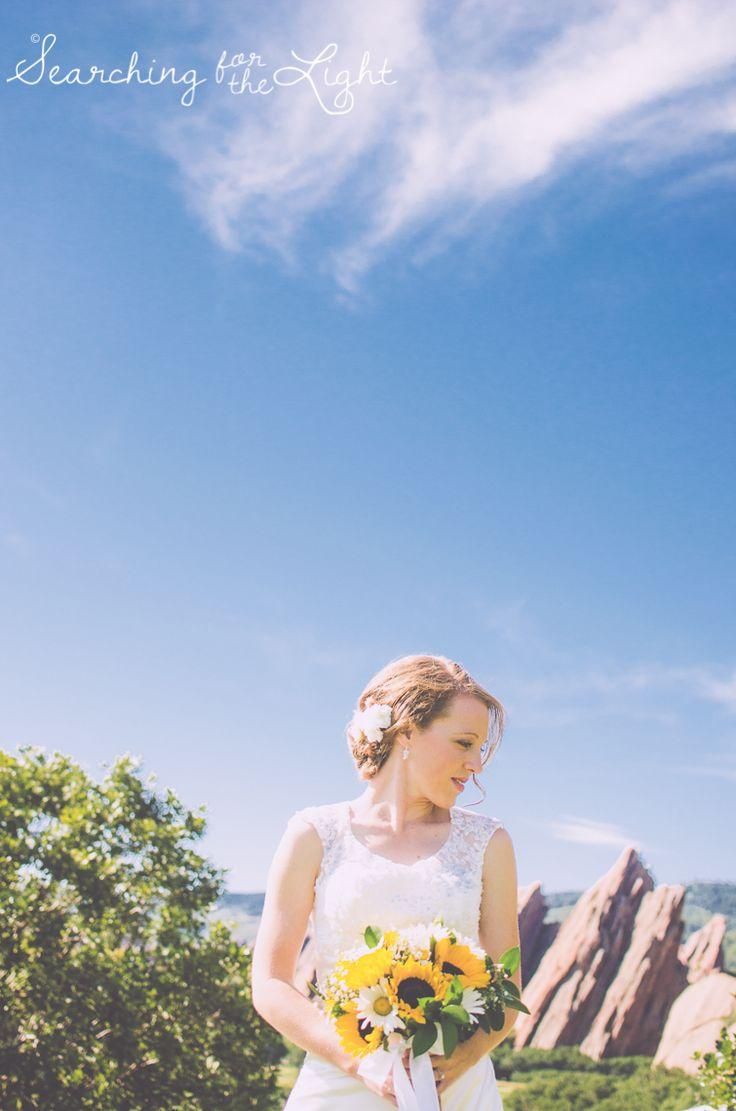 Bride Arrowhead Golf Course Wedding Photos by Denver Wedding Photographer