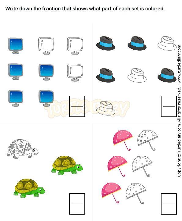 Number Names Worksheets first grade fraction worksheets : 1000+ images about Fractions Worksheets on Pinterest