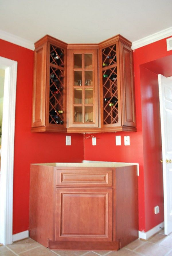 Gorgeous Wood Corner Wine Cabinets With Diagonal Lattice Wine Rack Also  Raised Panel Wood Cabinet Doors Part 70