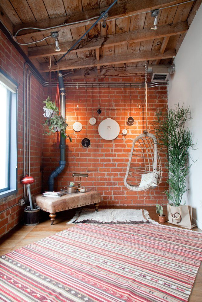 Perhaps a space for yoga Mulu's Creative + Vintage Collective Den — Office Tour | Apartment Therapy