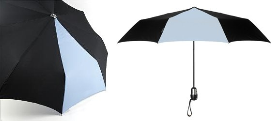 DAVEK- Solo Umbrella Pale Blue and Black