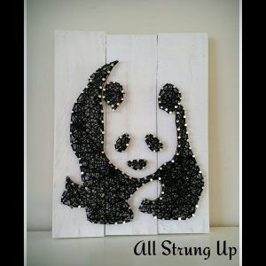 Panda string Art All Strung Up