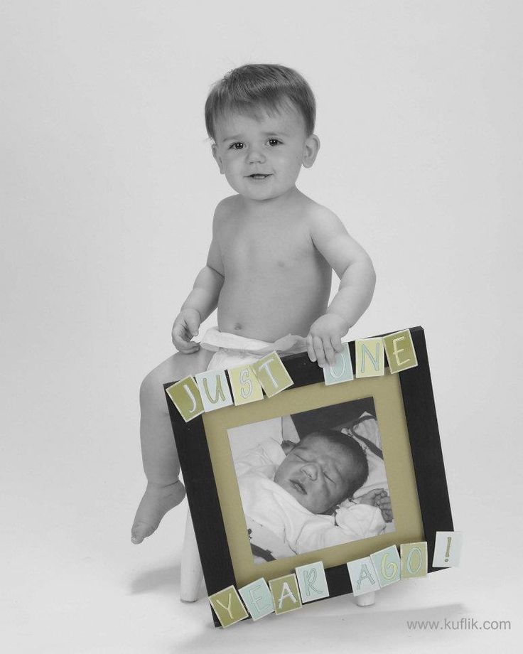 Cute idea for 1st birthday photo