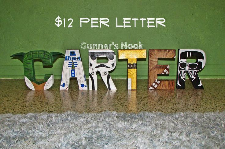 Star Wars Character Letter Art by GunnersNook on Etsy https://www.etsy.com/listing/191238652/star-wars-character-letter-art
