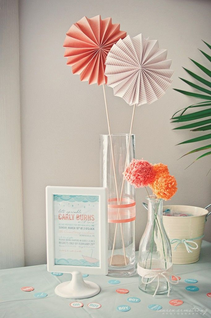orange baby shower | Project of the Week: Aqua + Orange Baby Sprinkle