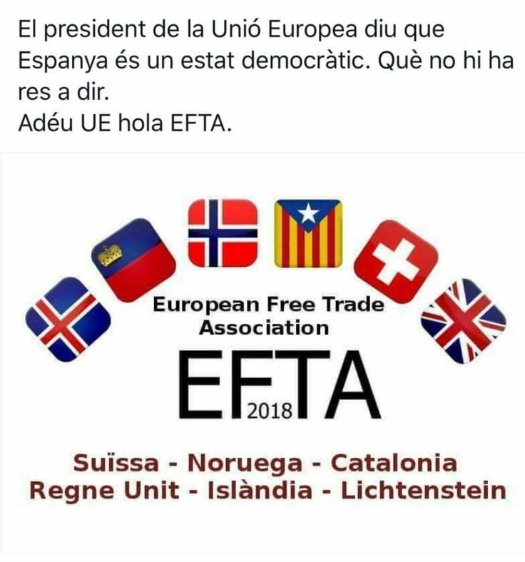 The President of the EU says that Spain is a democratic state. The President of the EU says that there is nothing to say. Goodbye #UE, hello #EFTA. #1OCT