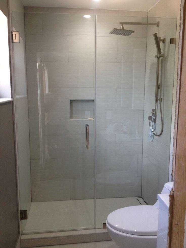 borderless glass shower door  fiberglass shower door