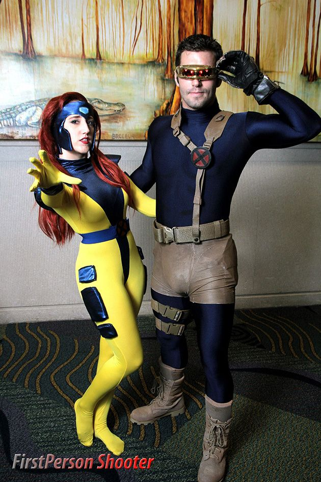 Jean Grey & Cyclops, cosplayed by Lorelei Sandberg & Alex Ullrich, photographed by FirstPerson Shooter