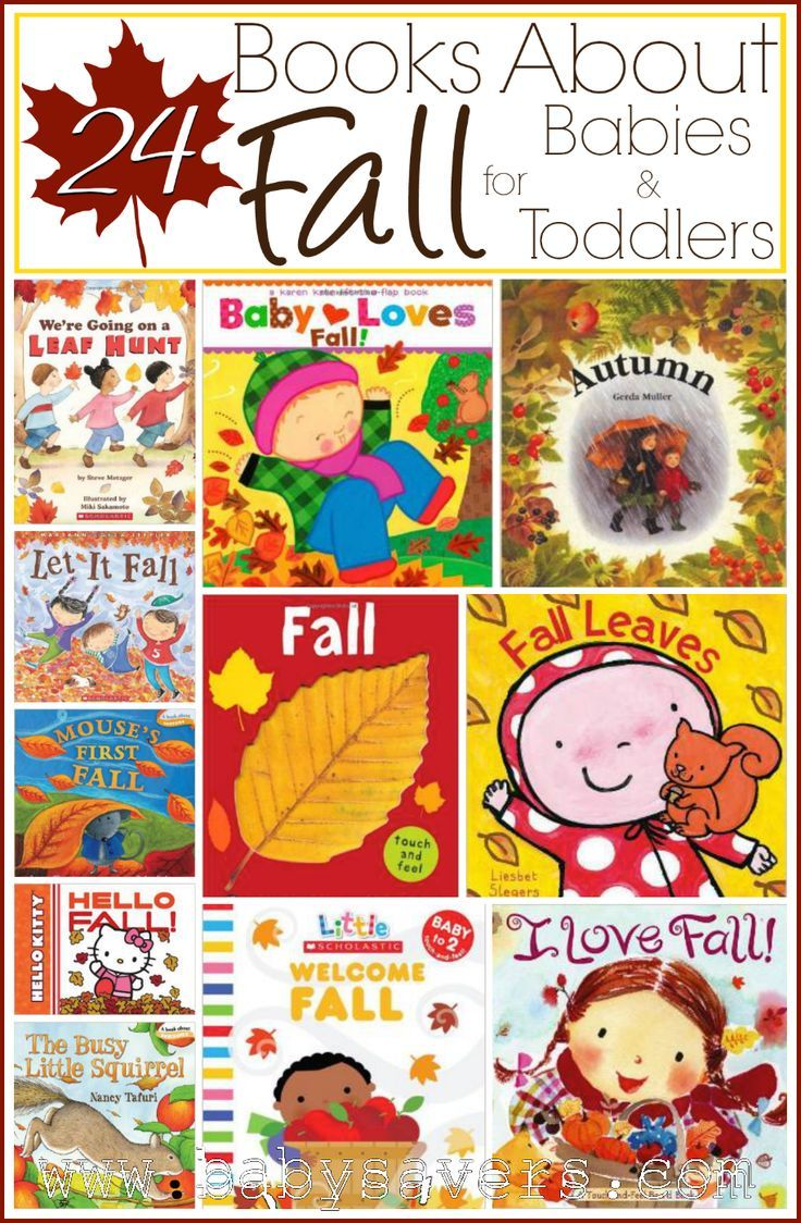 24 books about fall for babies, toddlers and little kids. So perfect for cozy reading time after a day of fun fall activities!
