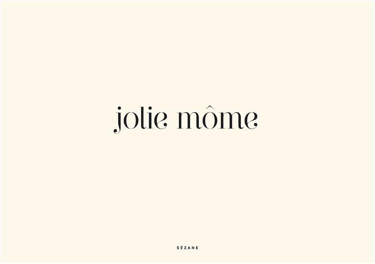 Jolie Môme Sezane Typography Card #sezane #journalsezane