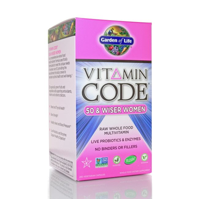 Garden of Life Vitamin Code 50 and Wiser Women's Formula, 240 ct: Garden of Life Vitamin… #Live_Superfoods #bone #bonehealth #code #formula