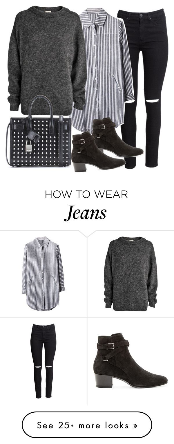 """""""Untitled #19390"""" by florencia95 on Polyvore featuring H&M, Acne Studios and Yves Saint Laurent"""