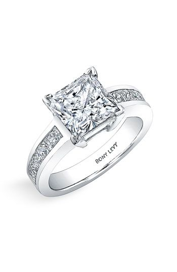 Bony Levy 'Bridal' Princess Cut Diamond Semi Mount Ring