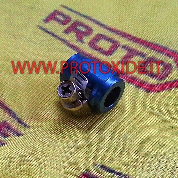 Fascetta con dado aeronautico per tubo 6mm interno al prezzo di 15,00 € Euro.  Dado aeronautico blu che permette di essere fissato come una fascetta
