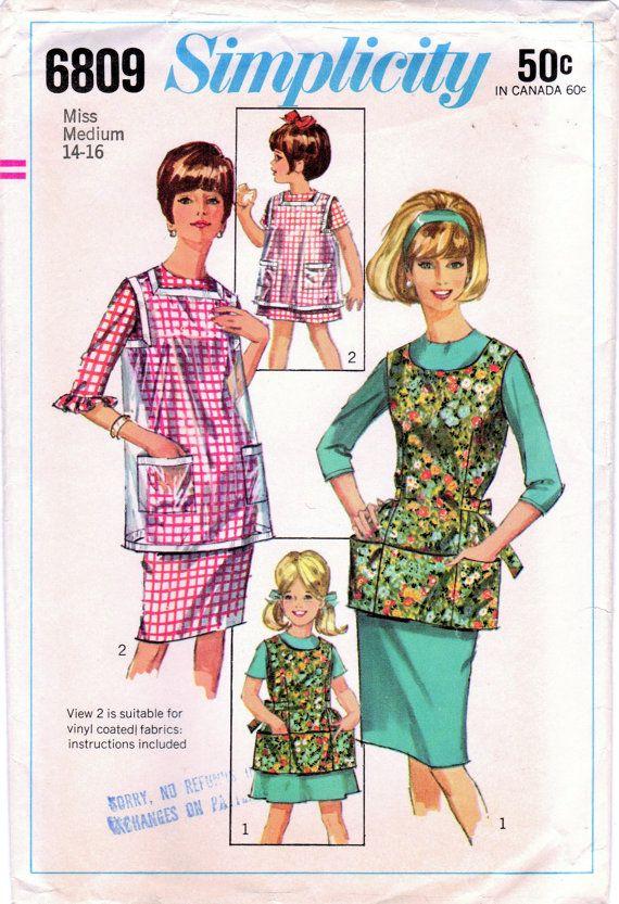 1960s Simplicity 6809 Vintage Sewing Pattern от midvalecottage