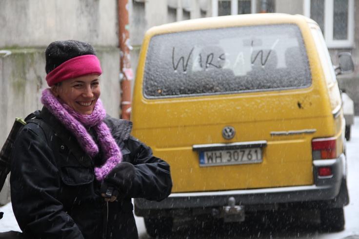 Blogger Abigail King (@insidetravellab) leaves her mark in Warsaw