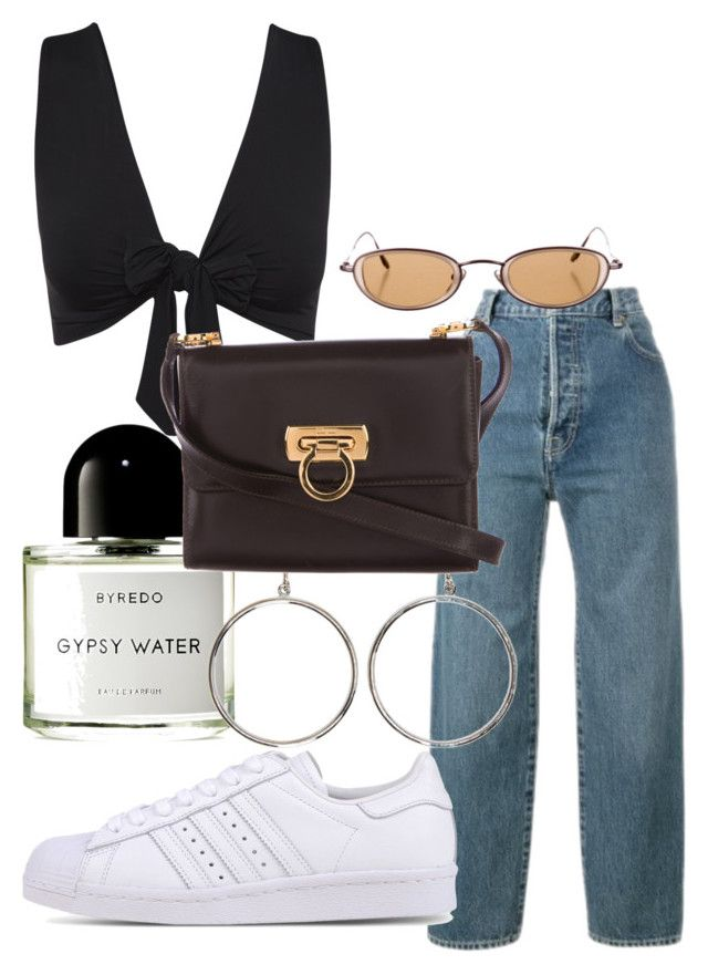 """""""liebe"""" by celesteroy ❤ liked on Polyvore featuring Levi's, adidas Originals, Byredo, STELLA McCARTNEY and Salvatore Ferragamo"""