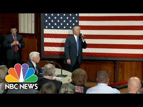 Donald Trump Ensures His Town Hall Was Not Debate Prep | NBC News  Town hall was by invitation only and lasted about 30 min.