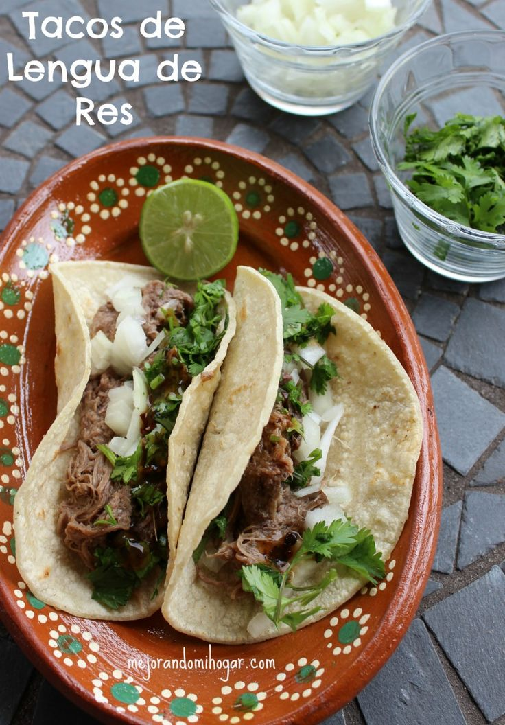 Mi Receta de Barbacoa de Res Mexicana, de lengua y cachete, acompañala de una buena salsa!