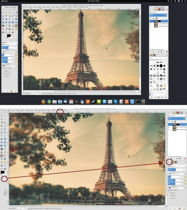 how to make the free photo editing tool GIMP work more like Photoshop