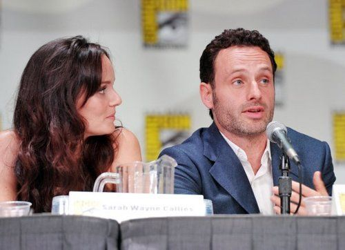 The Walking Dead images Comic-Con 2011 - Sarah Wayne Callies & Andrew Lincoln wallpaper and background photos