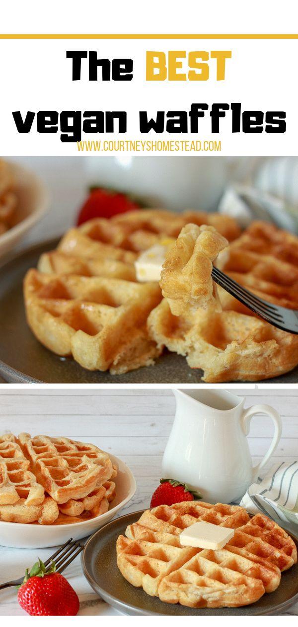 The BEST easy Vegan Waffles