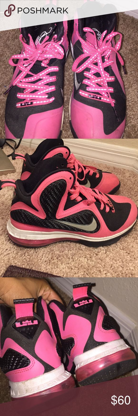 Pink Lebrons Size 5Y.. offers welcomed :) Nike Shoes Sneakers