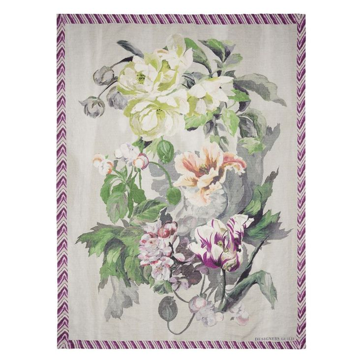 Delft+Flower+Tuberose+Pledd+130x180cm,+Designers+Guild