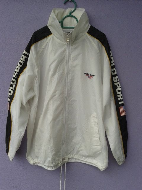 Vintage Polo Sport Ralph Lauren Windbreaker Hooded by sixstringent, $120.00