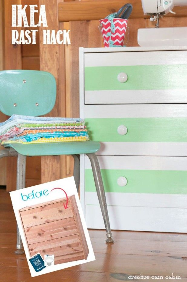 IKEA RAST HACK: featuring Antique White paint from Pittsburgh Paints &  Stains and Conquest white - 62 Best Ikea Hacks With Hickory Hardware Images On Pinterest