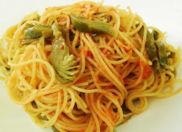 spaghetti ricci e carciofi #ricettedisardegna #recipe #cucinasarda #sardegna #sardinia