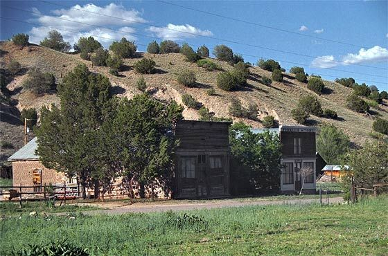 Chloride, New Mexico/ In 1879, Harry Pye, an Englishman, was hauling freight for the army to the post at Ojo Caliente when he searched for shelter near dusk where roaming Apache parties would not spot him. In the morning he discovered silver chloride ore nearby, and later, with some friends, returned to stake claims.