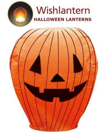Halloween Wishlantern® (Pack of 10) by Wishlantern®. $29.99. Simply light the fuel cell at the bottom of the lantern, watch it fill with hot air and let it go into the night sky.. 106cm tall and 66cm wide when lit. Easy to light and launch within a minute or two.. Made from high quality, biodegradable rice paper, string and bamboo.. Halloween Wish Lanterns from Wishlantern® - Pack of ten Lantern. Halloween Wish Lanterns From Wishlantern®  Wishlantern® developed ...