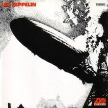 Led Zeppelin (1968)  A black-and-white photograph of a zeppelin exploding  Led Zeppelin's front cover, which was chosen by Page, features a black-and-white image of the burning Hindenburg airship.