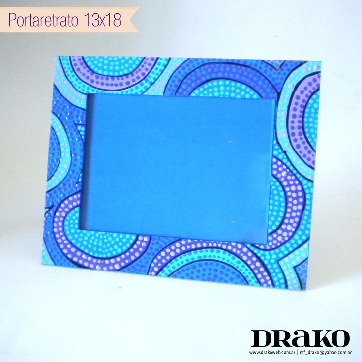 Blue photo frame / Portaretrato Azul