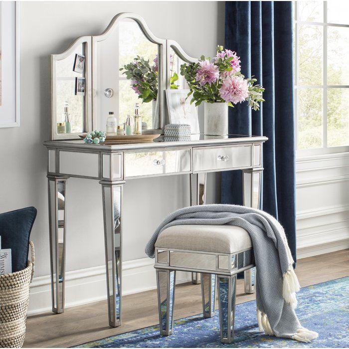Lyra Vanity Set With Mirror Vanity Set With Mirror Vanity Set