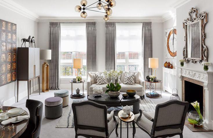 LuxDeco Style Guide Helen Green Designs Grey Lounge Grey Livingroom