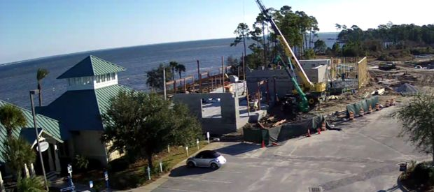 Construction at the Destin, Fla. site of the second LuLu's restaurant. We are expecting to be complete by early summer 2015.